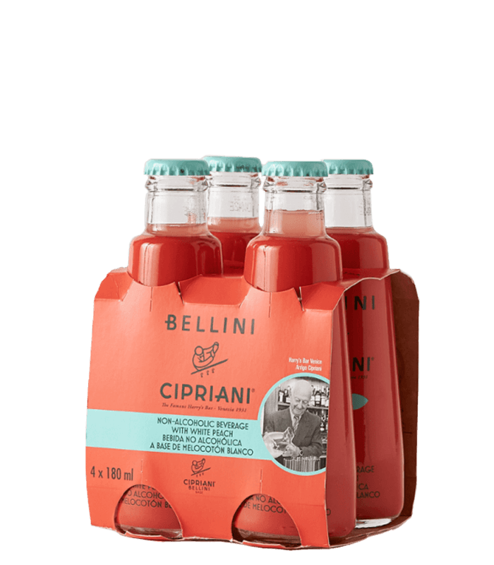 Пакет Белини Чиприани без алкохол 4 х 180мл