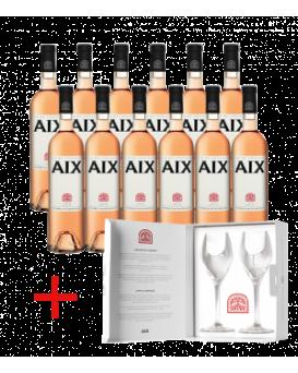 Комплект 12 бутилки Екс розе с подарък луксозни чаши