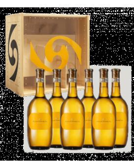 Пакет 6 бутилки Гави от Вила Спарина с дървена кутия