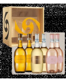 Пакет 6 бутилки от Вила Спарина с дървена кутия