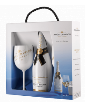 Moet Ice Imperial set with 2 glasses