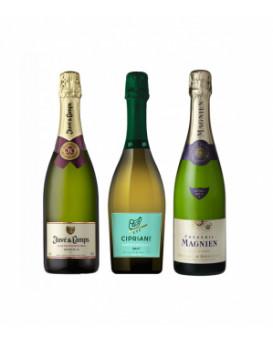 Пакет три различни пенливи вина
