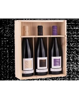 Подаръчна кутия с 3 червени вина от Шато Пеские