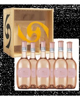 Пакет 6 бутилки Розе от Вила Спарина с дървена кутия